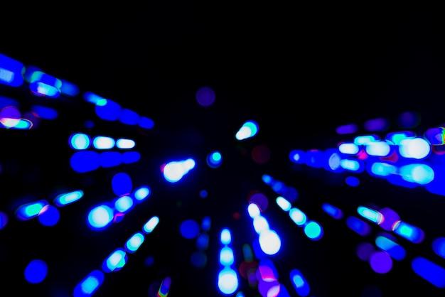 Fundo desfocado azul luzes