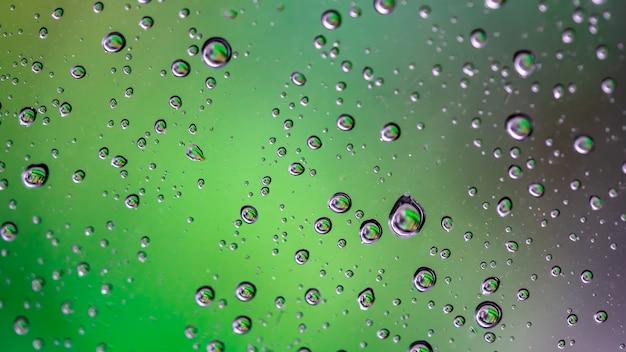 Fundo desfocado de gotículas de água