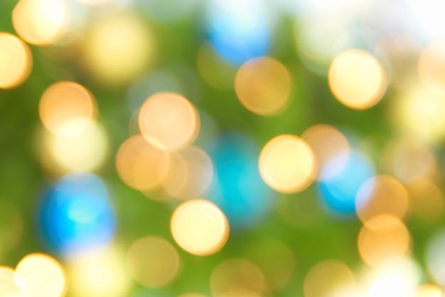 Fundo desfocado de luzes amarelas