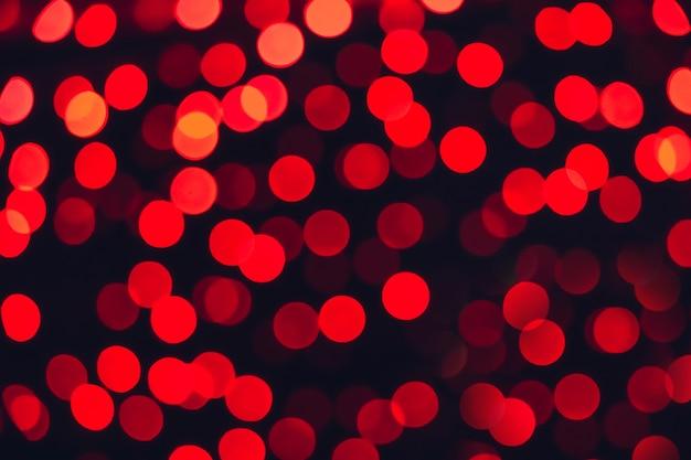 Fundo desfocado de luzes vermelhas, desfocar a imagem do bokeh.