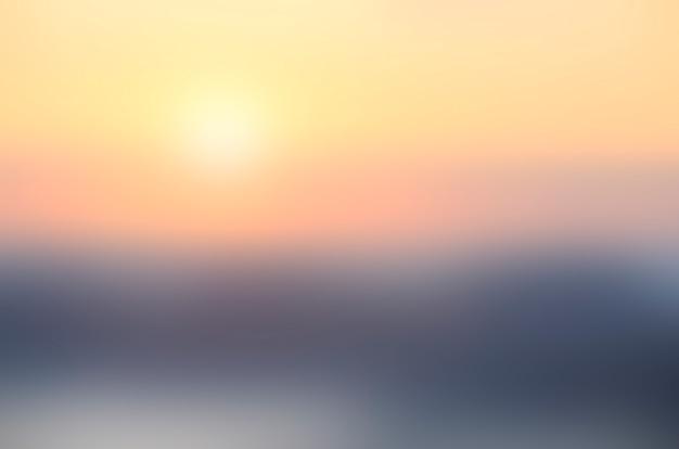 Fundo desfocado do nascer do sol.