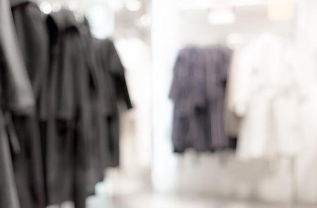 Fundo desfocado - loja de roupa