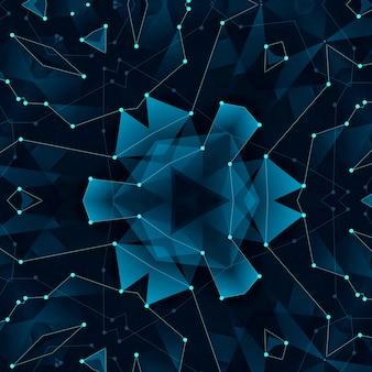 Fundo digital abstrato conectando pontos e linhas