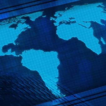 Fundo digital com um mapa-múndi para seu projeto