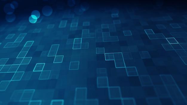 Fundo digital dos dados grandes azuis.