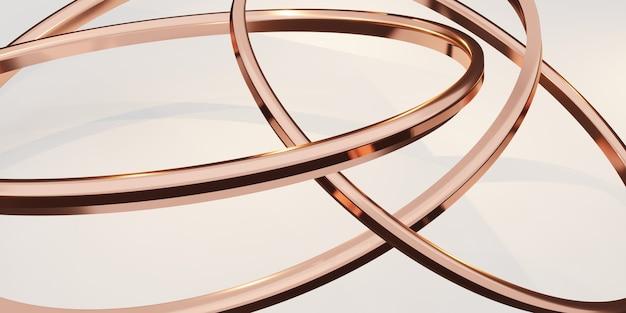 Fundo do anel de brilho abstrato branco ilustração 3d