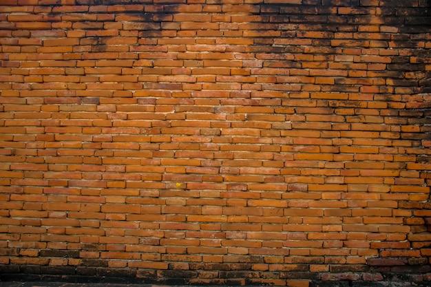 Fundo do antigo fundo da parede de tijolo