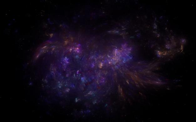 Fundo do campo de estrelas. galáxia estrelada do espaço sideral