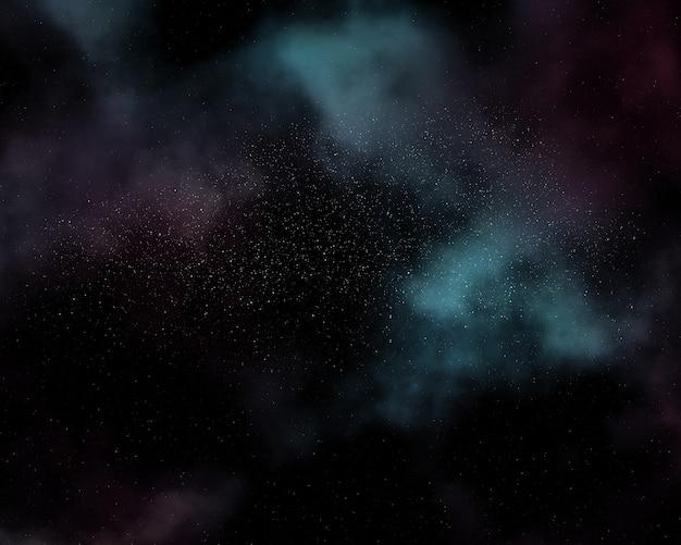 Fundo do céu à noite com nebulosa