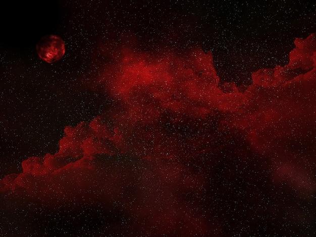Fundo do céu do espaço 3d