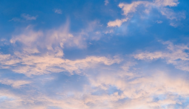 Fundo do céu do por do sol
