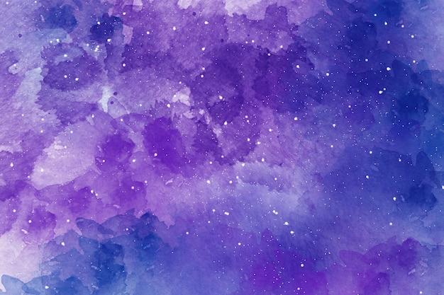 Fundo do céu estrelado do espaço abstrato da aquarela Foto Premium