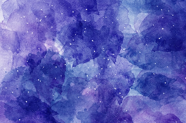 Fundo do céu estrelado do espaço abstrato da aquarela