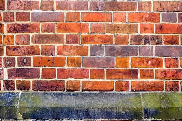 Fundo do close-up da parede de tijolo vermelho.