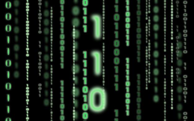Fundo do código binário