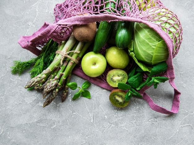 Fundo do conceito de comida vegetariana saudável