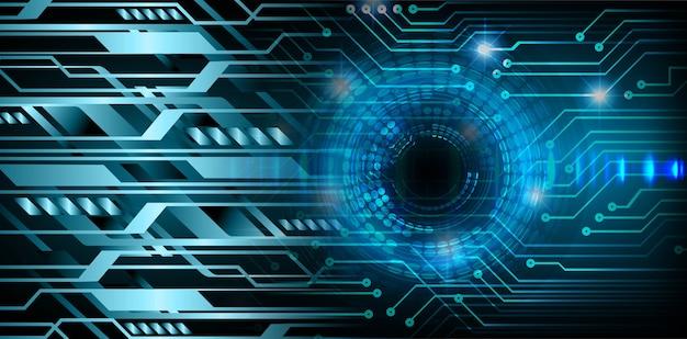 Fundo do conceito de tecnologia do futuro do circuito cibernético do olho