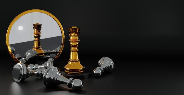 Fundo do conceito de xadrez vencedor
