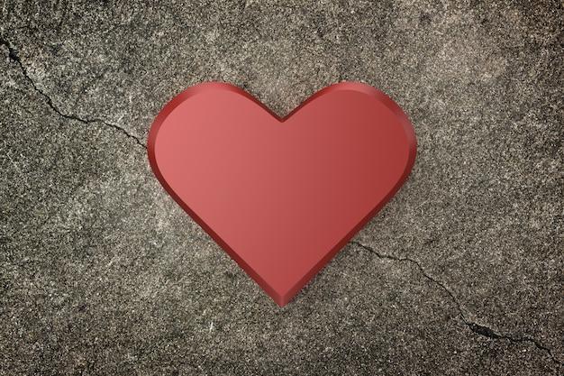 Fundo do coração. renderização em 3d.