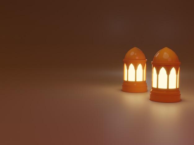 Fundo do elemento ramadan kareem com lanternas