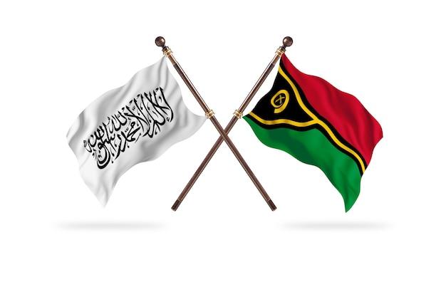 Fundo do emirado islâmico do afeganistão versus vanuatu two flags