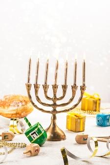 Fundo do feriado judaico de hanukkah