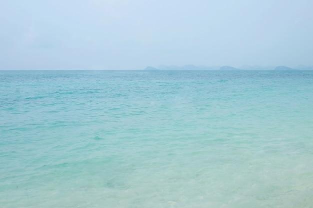 Fundo do mar e do céu azul, paisagem natural
