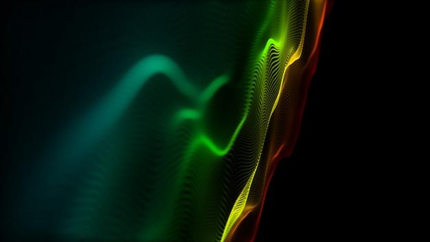 Fundo do movimento abstrato superfície de ondulação digital