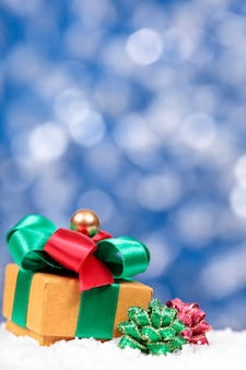 Fundo do natal com caixa de presente