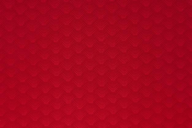 Fundo do padrão pontilhado japonês vermelho onda estilo sem costura