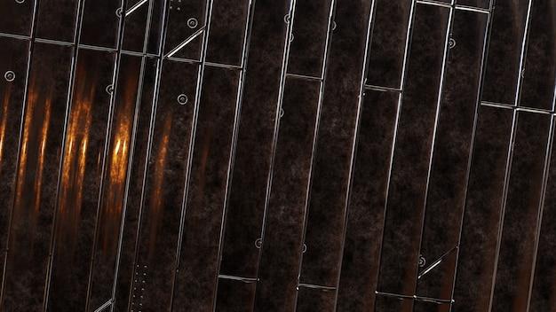 Fundo do painel de textura metálica suja
