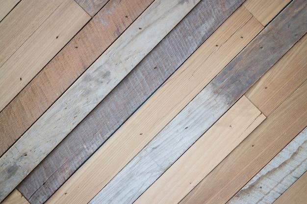 Fundo do painel diagonal de madeira rústica