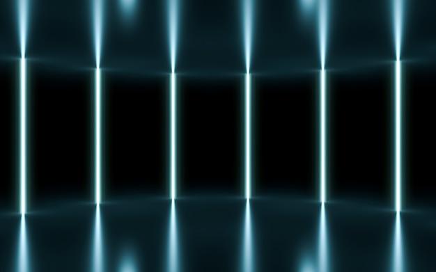 Fundo do palco de néon. renderização 3d