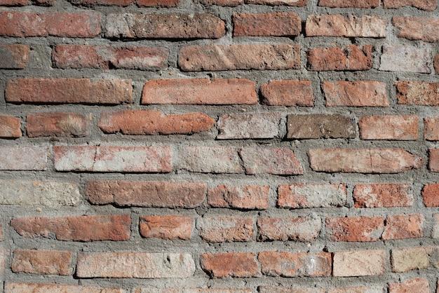 Fundo do quadro horizontal e fundo da parede de tijolo vermelho.