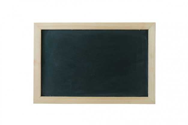 Fundo do quadro-negro com moldura de madeira, lousa suja esfregada.