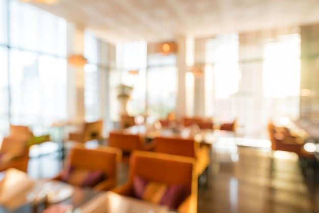 Fundo do restaurante turva