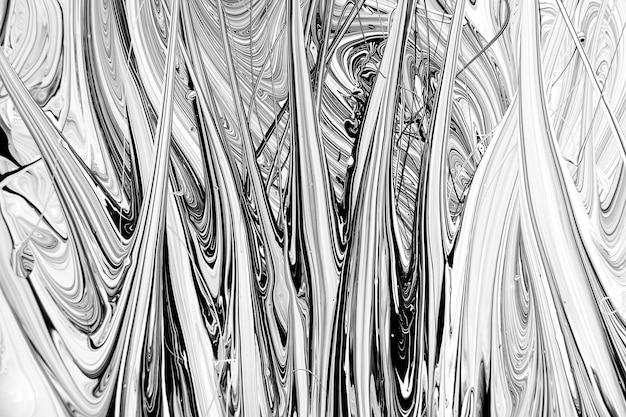 Fundo do sumário da tinta acrílica em preto e branco.
