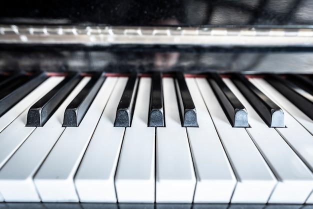 Fundo do teclado de piano