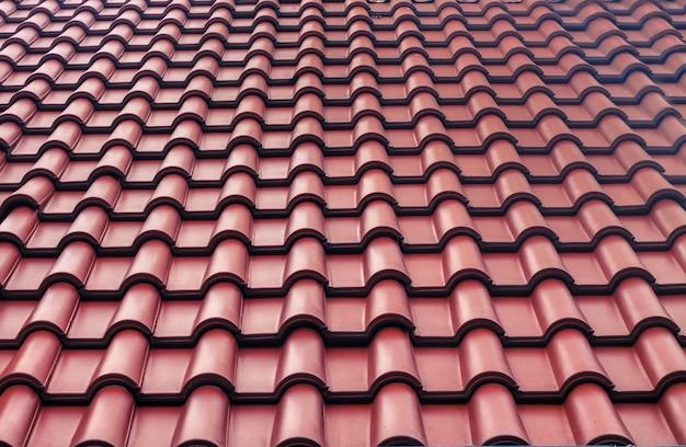 Fundo do telhado de telhas vermelhas