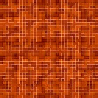 Fundo do teste padrão da composição do mosaico dos azulejos coloridos do vidro cerâmico vermelho.