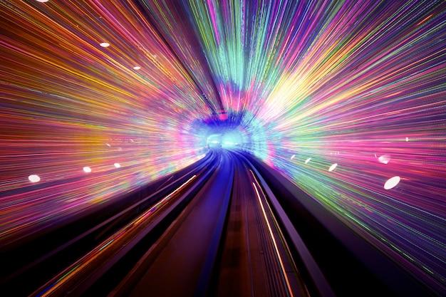 Fundo do túnel de luz
