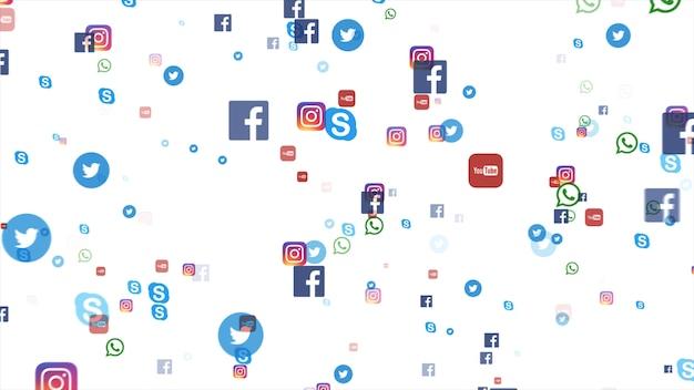 Fundo dos famosos ícones de mídia social