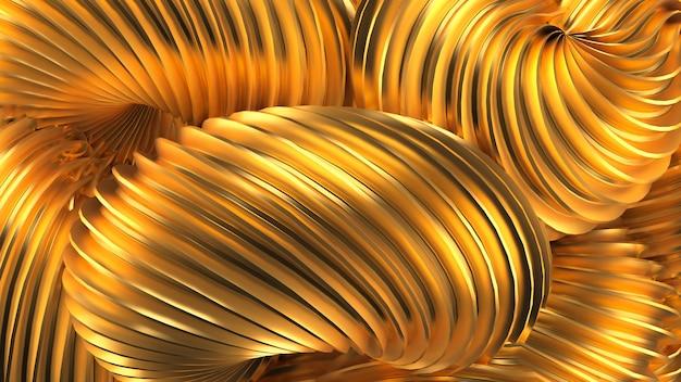 Fundo dourado bonito. renderização em 3d.