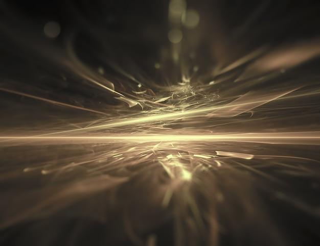 Fundo dourado do fractal do horizonte
