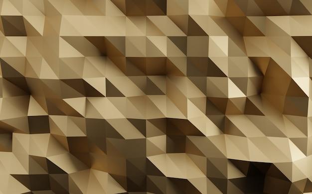 Fundo dourado geométrico facetado abstrato