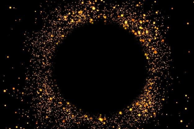 Fundo dourado moldura redonda festiva