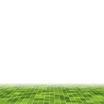 Fundo e textura da parede do mosaico do mosaico do pixel quadrado verde brilhante abstrato.
