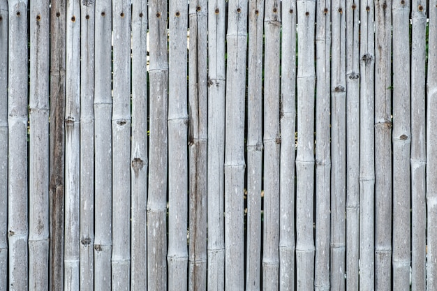 Fundo e textura de bambu da parede da cerca.