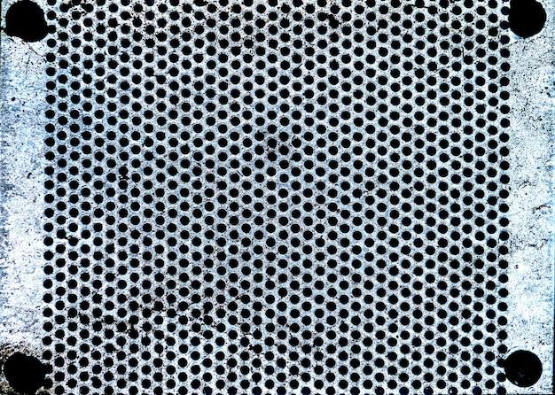 Fundo e textura de grade de aço