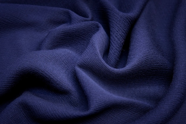 Fundo e textura de tecido amassado. fundo abstrato, modelo vazio. foco seletivo.